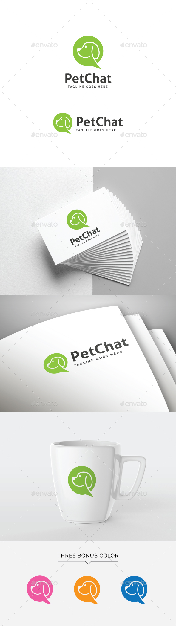 Pet Chat Logo - Animals Logo Templates