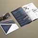 Modern Design Bi-Fold Brochure With Triangular Elements - GraphicRiver Item for Sale