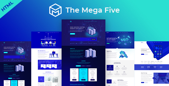 Image of Mega5 One Page Parallax Boostrap 4 Template