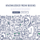 Knowledge from Books Doodle Concept - GraphicRiver Item for Sale