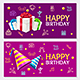 Birthday Banner Card Horizontal Set - GraphicRiver Item for Sale
