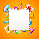 Birthday or Anniversary Celebration Banner Card Background - GraphicRiver Item for Sale