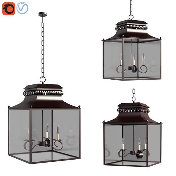 3d Model Pottery Barn Bolton Indooroutdoor Lantern By Erkinaliyev