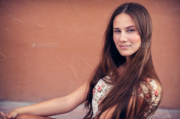 Beautiful girl portrait - Stock Photo - Images