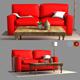 3d Pb Comfort Square Arm Upholstered Sofa model