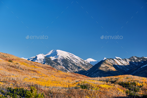 Kebler Pass in Colorado Rocky Mountains - Stock Photo - Images