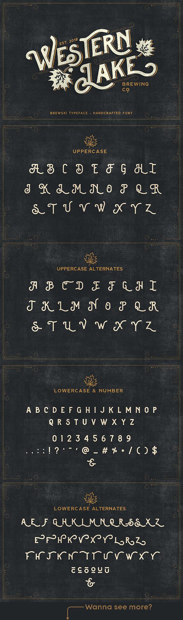 Brewski Brewery Vintage Typeface - Serif Fonts