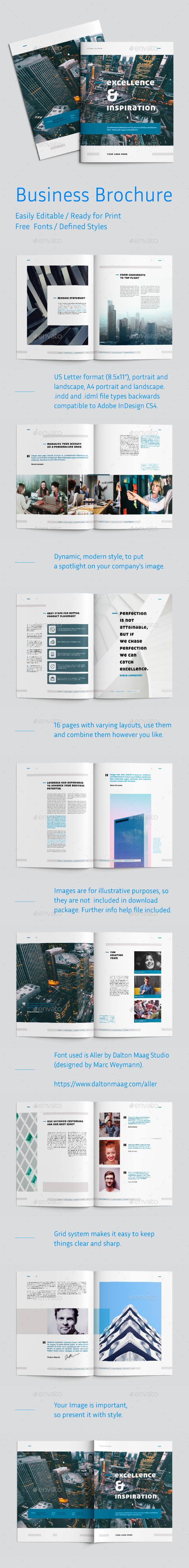 Modern Business Brochure - Brochures Print Templates