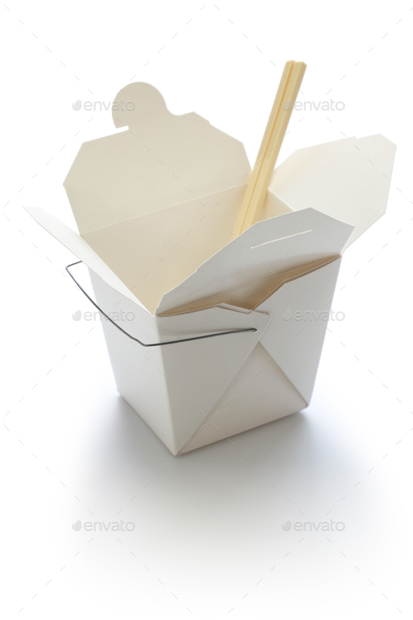 chinese take out box - Stock Photo - Images