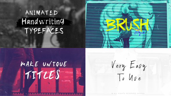 Brush-Animated Handwritten Typefaces - Project for After Effects (Videohive)