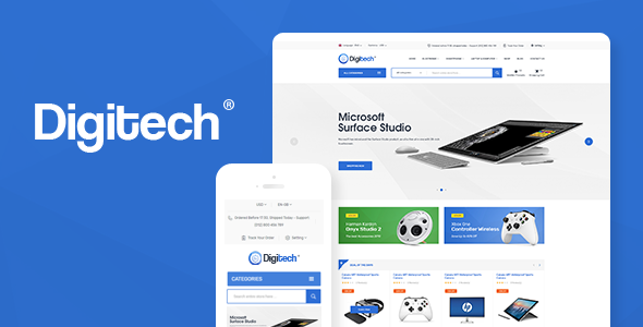 Image of Digitech - Technology Theme for WooCommerce WordPress