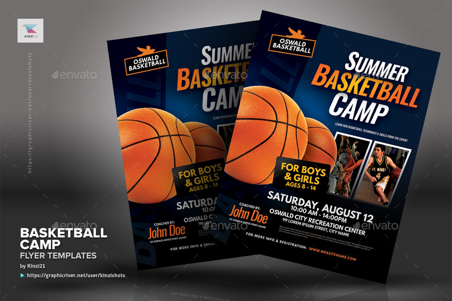 Basketball Camp Flyer Templates By Kinzishots Graphicriver