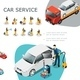 Isometric Car Service Elements Set - GraphicRiver Item for Sale