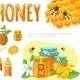 Cartoon Colorful Beekeeping Elements Set - GraphicRiver Item for Sale