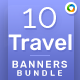Travel Web Banner Set Bundle - 10 Sets - 176 Banners - GraphicRiver Item for Sale