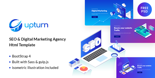 Upturn - SEO And Digital Marketing Agency Html Template