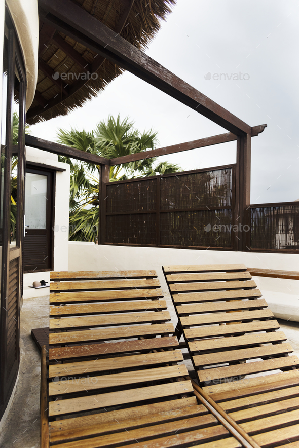 Exteriors of a luxury resort - Stock Photo - Images