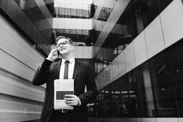 Businessman on the phone - Stock Photo - Images