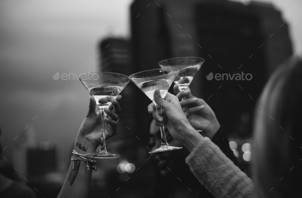 People celebrating in a party - Stock Photo - Images