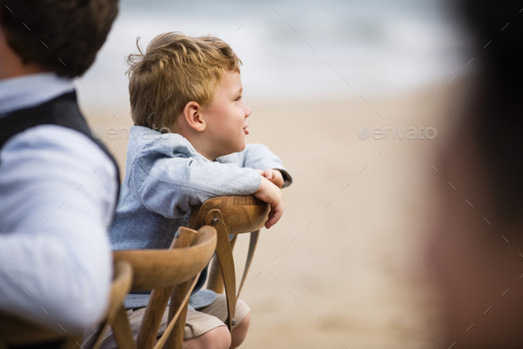 Little boy at a wedding ceremony - Stock Photo - Images