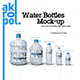 Water Bottles Mock-up - GraphicRiver Item for Sale
