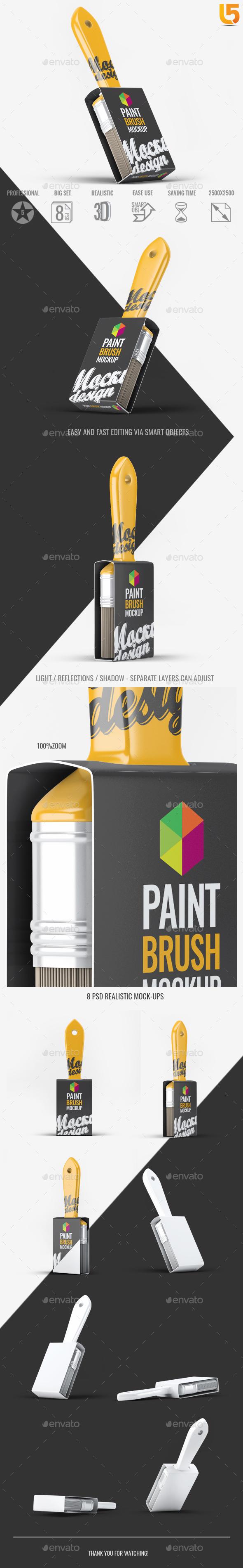 Paint Brush Mock-Up - Miscellaneous Print