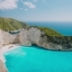 The World Famous Navagio Beach Zakynthos Greece Turquoise Sea Water Rolled To White Sand - VideoHive Item for Sale