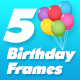 Birthday Frame Cake and Candle Cartoon Pack 5 - VideoHive Item for Sale