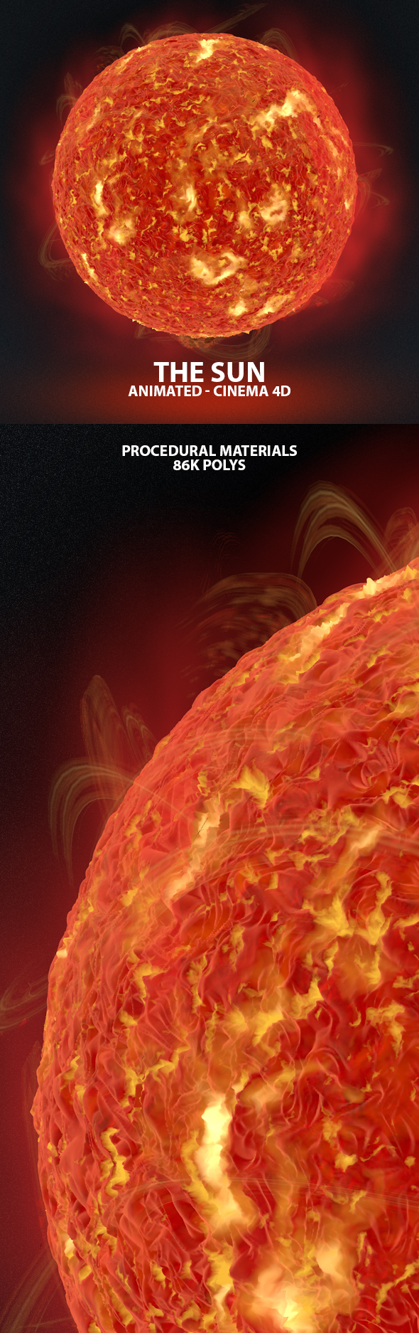 The Sun Animated High Poly 3D Model - 3DOcean Item for Sale