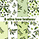 8 olive tree seamless textures collection
