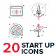 Start Up Line Icon Set - GraphicRiver Item for Sale