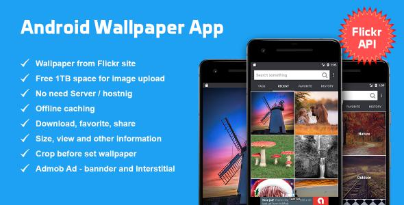 Android Wallpaper App based on Flickr API            Nulled
