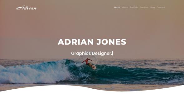 Adrian - Portfolio Template - Portfolio Creative