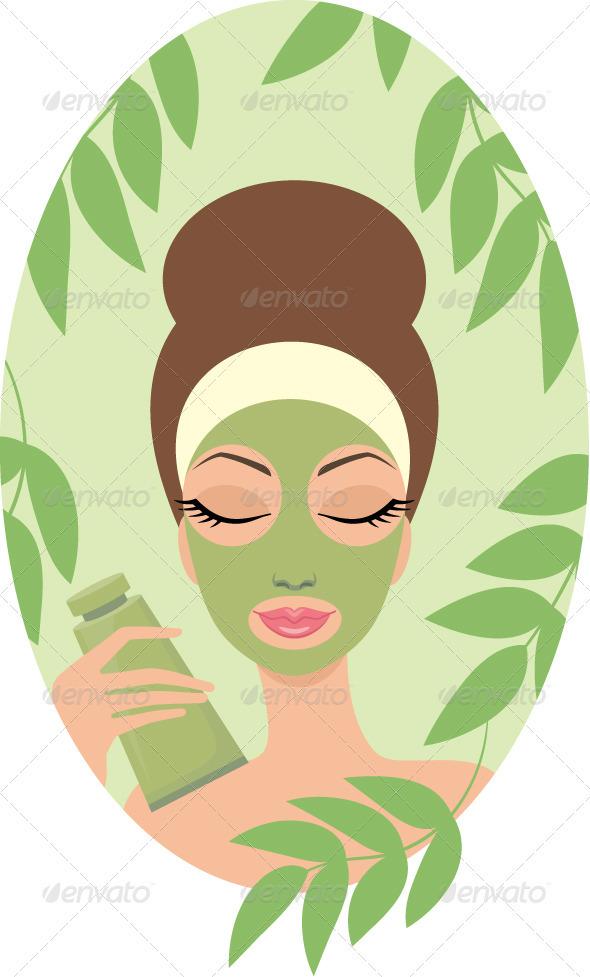 Woman with Facial Mask - Health/Medicine Conceptual
