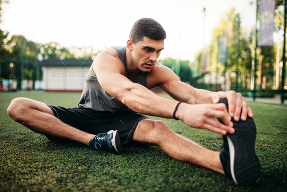 Male athlete on outdoor fitness workout - Stock Photo - Images