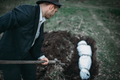 Maniac buries victim into a grave, crime horror - PhotoDune Item for Sale