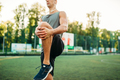 Man in sportswear prepares for outdoor workout - PhotoDune Item for Sale