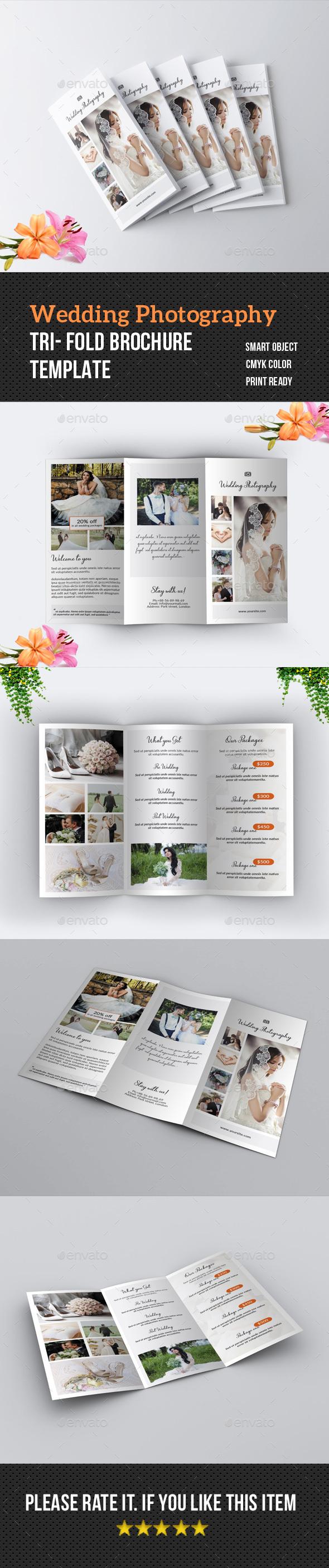 Wedding Photography Tri-Fold Brochure - Corporate Brochures