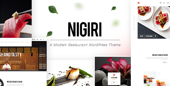 Nigiri - A Modern Restaurant WordPress Theme