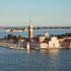 Aerial view of San Giorgio Maggiore island and basilica, Venice - PhotoDune Item for Sale