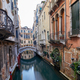 Venice canal with ancient buildings and houses facades in Italy - PhotoDune Item for Sale