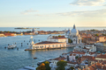 Santa Maria della Salute church aerial view in Venice before sunset, Italy - PhotoDune Item for Sale