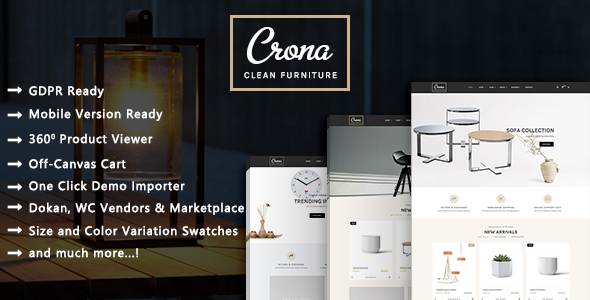 Crona - Luxury Furniture Architecture WooCommerce WordPress Theme - WooCommerce eCommerce