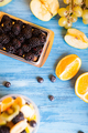 Top view of fresh mix of delicious fruits on wooden table - PhotoDune Item for Sale