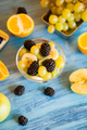 Ready for summer fruit variety on blue wooden desk - PhotoDune Item for Sale