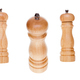 Wooden salt shaker and pepper mill isolated on white background - PhotoDune Item for Sale