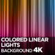 Colored Linear Lights Background 4K - VideoHive Item for Sale
