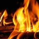 Campfire In The Night. Burning Logs in Orange Flames - VideoHive Item for Sale