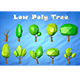Low Poly Cartoon Tree asset