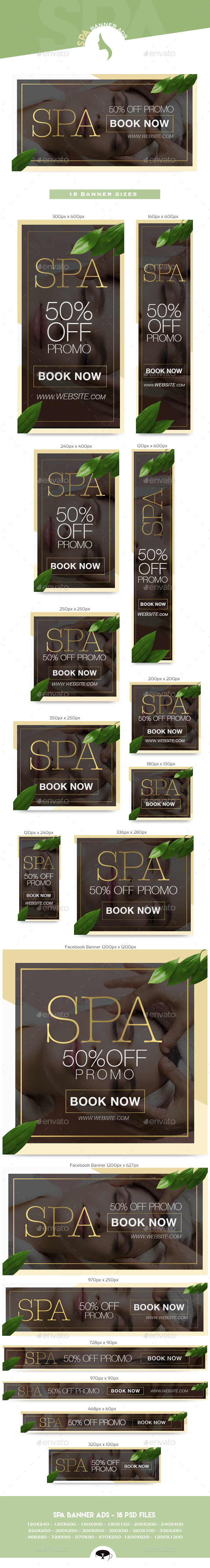Spa Banner Ads - Banners & Ads Web Elements